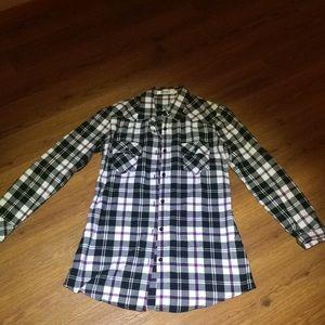 Women's flannel tunic top